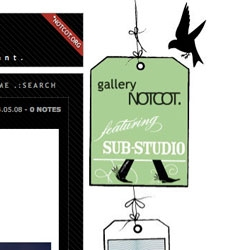 Gallery NOTCOT presents - SUB-STUDIO! Check out the gallery tags along  the left and right with peeks at some of their work - click them to see the pieces in the gallery!