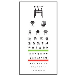 Blue Ant Studio's Chair Exam poster is an eye/mind exam for any designer chair lover!