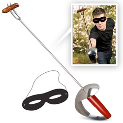 For the hungry fencers in your life - BBQ Sword - the perfect saber for roasting anything from marshmallows to hotdogs - or skewering your foe.