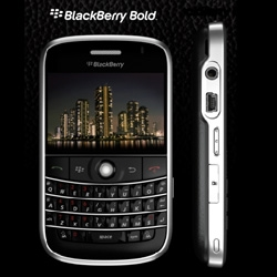 Wow ~ the much anticipated Blackberry 9000 (Bold) has been officially announced! Looks like a leather/textured back... check out the official images!