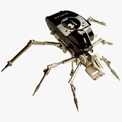 Christopher Conte makes cool critters from things like Singer sewing machine parts...