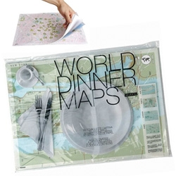 My next dinner party will be geographically educational ~ how fun would it be to use these city maps placemats that come in a tablet of 50?