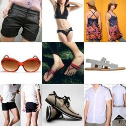 Its a scorcher of a day throughout Cali today ~ so we've rounded up some perfect options to look great while beating the heat for guys and girls ~ feel free to contribute more ideas!