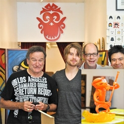Munky King officially launched their new Monkey King figure from Nathan Jurevicius ~ loving this fire monkey! And apparently Robin Williams even made it out for the launch...
