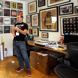 Shepard Fairey's studio ~ we were lucky enough to visit his studio during Simple Pleasures ~ and you wouldn't believe how incredibly inspiring the space is... wall to wall inspiration and quite the library