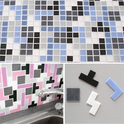 TETRIS TILES!!! Yes. Tiles. In TETRIS shapes! Why didn't anyone do this sooner... and in almost any colors you want!