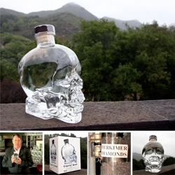 Dan Aykroyd's Crystal Head Vodka ~ see the milano glass skull bottle up close, as well as the box... after that insane video, it's fun to actually hold/taste the product!