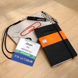 On notebooks and pens ~ here are some recent obsessions that came in the form of DWR Tools for Living Press Kit (best notebook!) and the Federated Media pen from the summit (it's a keeper too!)