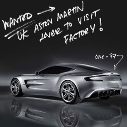 Aston Martin's One-77 ~ take a look at some of the first pics, only 77 made and already sold out... £1.2m pricetag... and i need a NOTCOT reader to go visit the factory and take pics of this beauty for us! Up for the challenge?