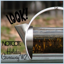 NOTCOT Holiday Giveaway #2 ~ Joey Roth's gorgeous Sorapot ~ equal parts work of art, tea pot, awesome packaging!