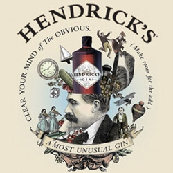 Hendrick's Gin has great point of sale pieces, crazy web design, and videos... fun branding that is sure to make you smile... not to mention it's my favorite gin.