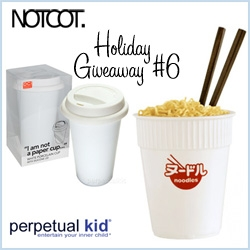 NOTCOT Giveaway #6: Perpetual Kid will hook a lucky reader up with 1 porcelain I Am Not A Paper Cup and 1 Ceramic Cup O Noodle Cup!!!
