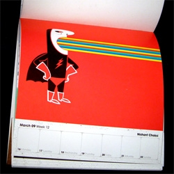 Take a peek inside the 2009 CIA (Central Illustration Agency) Super Hero 2009 Calendar!!!