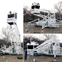 We Are One: The Obama Inaugural Celebration ~ WOW, that was some crowd ~ here's a look at the crowds, obama on the jumbotrons, and the creepy/amazing ICx Tactical Platforms the Park Police used...