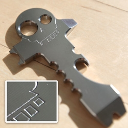 Close up with the TAD Gear Titanium Skeleton Key ~ who doesn't want a piece of thick solid 6AL-4V titanium billet that is machined locally in SF in a machine shop that does parts for the F22 Raptor?!?!