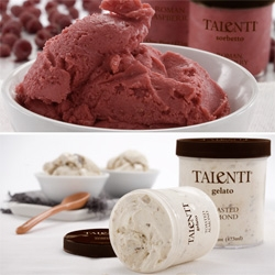 Mmmmmm Talenti Sorbetto (+Gelato) ~ in the reusable screw cap containers ~ perfect for surviving this heatwave ~ and i wish i had some of the Hill Country Peach Champagne Sorbetto...