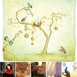 Gallery 1988 SF's Beyond the Pages has artists reinterpreting children's books like you've never seen before ~ Roald Dahl, Dr. Seuss, Shel Silverstein, and more!!! Really beautiful show