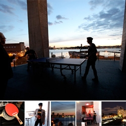 Breathtaking sunset + drinks + a very intense ping pong tournament? Take a peek at the The Standard SPiN New York Classic ~ the NY ping pong social club's first tournament at the Standard New York