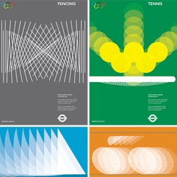 Brilliant olympics posters that could have been... Alan Clarke's take focuses simply on the geometry of the movement of the sports...
