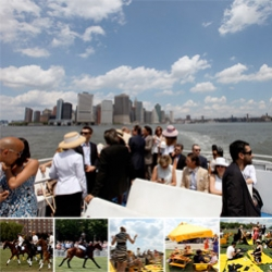 Beautiful Saturday of picnicking and Veuve Clicquot Manhattan Polo Classic watching... the views and weather were absolutely stunning ~ inspiring to see the manhattan skyline from that perspective!