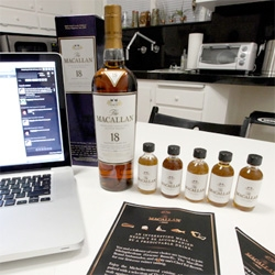 Macallan Twitter Tasting ~ one group live tweeting the tasting with scotch/food pairings by Michelin-starred chef Ed Brown of Eighty One in NY ~ and i tried the samples from LA!
