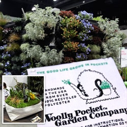 WOOLLY POCKETS!!! Just fell for these fun modular felt pockets for planting! (Amazingly cute logo as well) ~ they work as living walls/vertical gardens as well as movable planters and centerpieces!