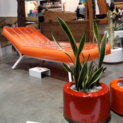 PAD Outdoor's Inflatable pool lounger/chair prototype spotted at Dwell on Design at Ford & Ching
