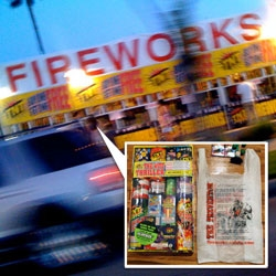 Happy 4th of July! For the occasion, it seemed appropriate to check out the crazy packaging and typography of some roadside Fireworks!