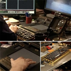 Steampunk WACOM TABLET! And Keyboard too (from Datamancer) ~ just noticed them in the new Syfy show Warehouse 13