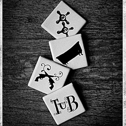Loving the branding of Tub Gin ~ and these ceramic coasters and their photography are beautiful!