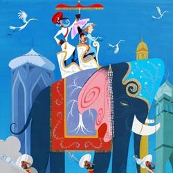 "A sneak peek at Carlos Ramos' upcoming solo show ""India"" ~ at the Corey Helford Gallery"