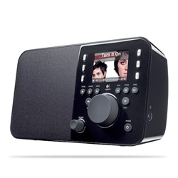 Logitech Squeezebox Radio! It's like a mini version of the Boom ~ wirelessly streaming all your networked and internet music! Only it can even run on batteries, so easier to move around the house or bring outside! (no remote though!)