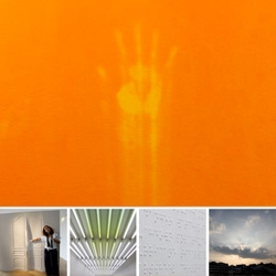 """How can you resist thermochromatic walls? This and other sensory conflicts at the stunning Espace Culturel Louis Vuitton in the penthouse above the Champs Elysees Louis Vuitton store ~ latest show """"""""La Confusion Des Sens"""""""
