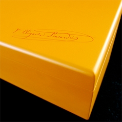 Veuve Clicquot Yellowboam! An amazing and unexpected gift ~ in a handcrafted lacquered box holding a gold + stingray leather coated 3L bottle of champagne!