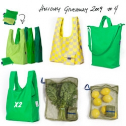 Holiday Feature & GIVEAWAY! Baggu launches the new canvas Duck Bag ~ shares the story of how this mother daughter design duo came to be ~ and a giant bundle of green Baggu goodness to giveaway as well!