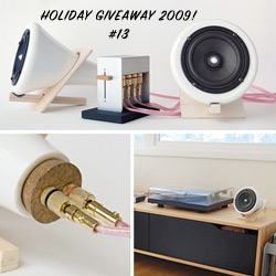 Holiday Feature + GIVEAWAY! Joey Roth's stunning ceramic speakers ~ a peek behind the design, and a chance to win the porcelain, wood, cork speaker set.