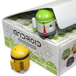Google Android mascot BLIND BOX TOYS! Finally here from Andrew Bell ~ of Creatures In My Head and O-No Sushi! 12 in total, see more pics!