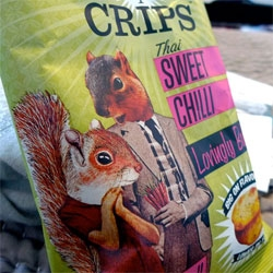 Crips! Adorable graphics, and they ARE better/healthier than crisps/chips... see the snacks,  the packaging, and the fun website pics too!