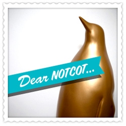 A new Dear NOTCOT ~ from Lou Mora ~ who, inspired by the matte black penguin and the Oscars ~ created the GOLDEN puma PENGUIN! See the evolution...