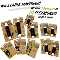 GIVEAWAY!!! We have 5 bundles of FLEXICORDS to giveaway! Super fun useful cables you can bend that hold their shape! (Also, help us poke at this new contest platform that we're experimenting with)