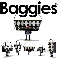 Shin Tanaka's Baggies ~ Grab your Xacto and printer ~ his latest line of papercraft toys are adorable bags and purses!