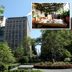 On magical places ~ The Roof Club at the Gramercy Park Hotel is just that... see how pretty it is!