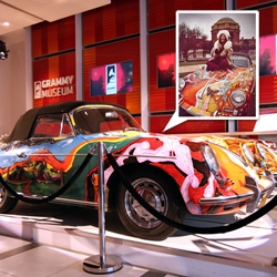 Janis Joplin 1965 Porsche 356c, currently in the lobby of the GRAMMY Museum - A close up look at the paint job!