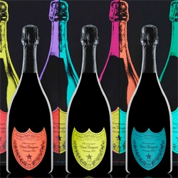 Dom Perignon Andy Warhol Tribute! Stunning packaging on this special series of Vintage 2002 as designed by the Design Laboratory at Central Saint Martin's School of Art & Design ~ see the videos!