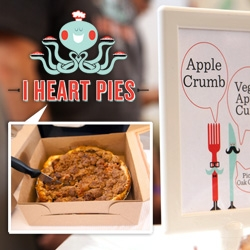 I Heart Pies! Awesome branding/logo/characters for this adorable LA pie shop. And apparently, delicious pecan pies as well!