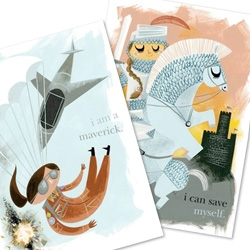 Amanda Visell's Posters for Girls - perfect for every girl in your life, big or small! Because she IS a maverick, she CAN save herself, she is WILD, and she is her OWN captain!