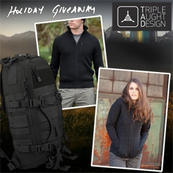 NOTCOT Holiday Giveaway #8: Triple Aught Design has some amazing gear for you to win to keep you warm while looking good and ready for anything!