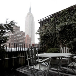 The Penthouse in Morgans Hotel New York City ~ an up close look at our weekend hideaway with gorgeous Empire State Building views... and grey scale cubic cozy modern designs...