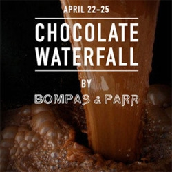Bompas & Parr's Chocolate Waterfall ~ 5 tonnes of chocolatey goodness filling a store, 12,000 L/hr flowing through, and filling the mall with choco-scent. See what visitors get to make/take home too!