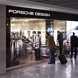 """Porsche Design's latest and largest airport store opens in Frankfurt ~ jetsetting is a must to keep up with all these airport """"malls""""."""
